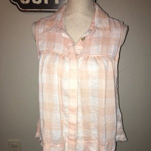 """Free People """"Hey There"""" Sleeveless Top Size Med"""